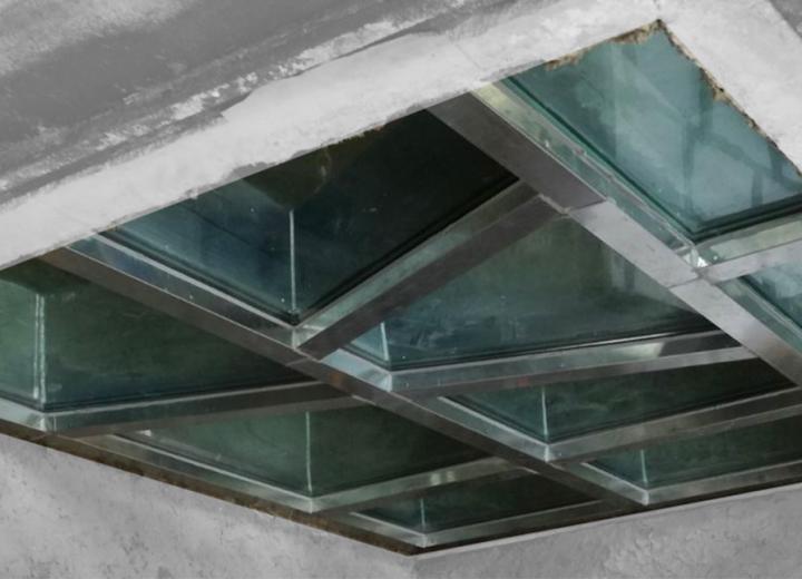 R + D + i: Revêtement de sol vitré EI120