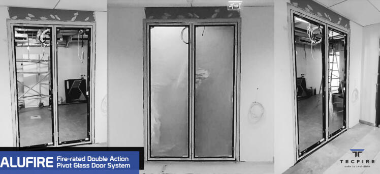 Alufire Pivot Glass Door Installation